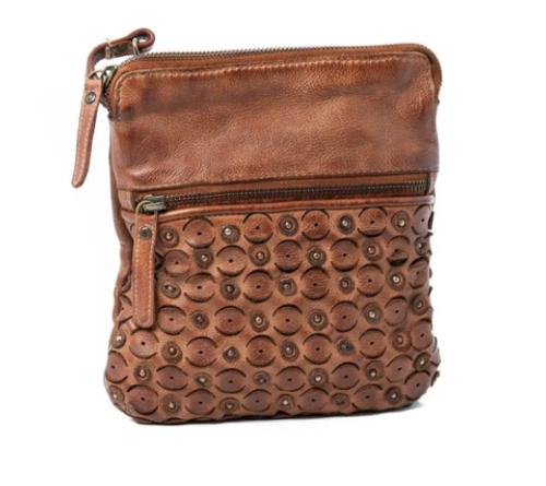 Ophelia Leather Shoulder Bag - Cognac