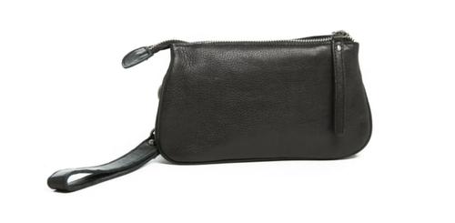 St Kilda Leather Clutch Wallet - Black