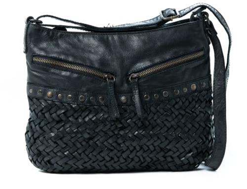 Yara Leather Shoulder Bag - Black