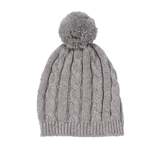 Arlo Cable Knit Baby Hat - Grey