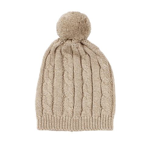 Arlo Cable Knit Baby Hat - Natural