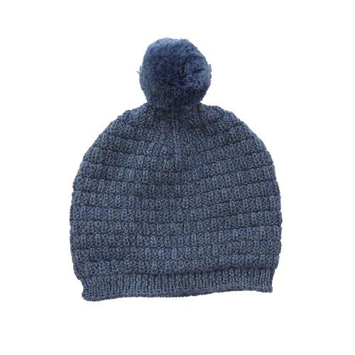 Neo Merino Basket Knit Hat - Denim