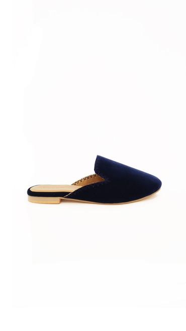 Velvet Slides - Navy