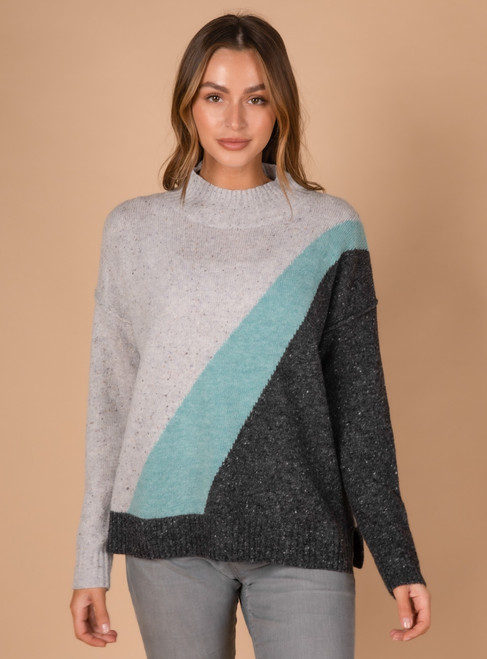 Block Colour Knit - Nature  Combo