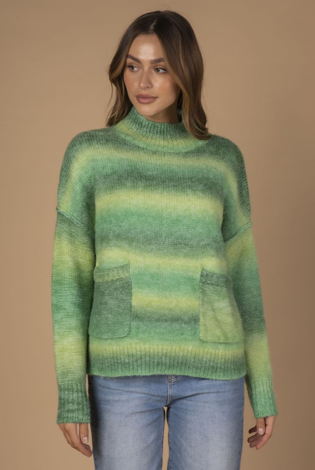 Ombre Knit - Greens