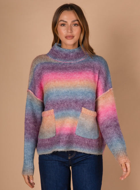 Ombre Knit - Rainbow