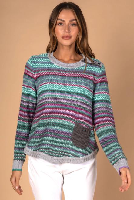Pearl Stripe Knit - Marl  Combo