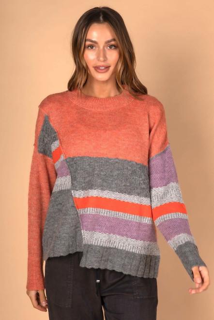 Step-Hem Knit - Sunrise Combo