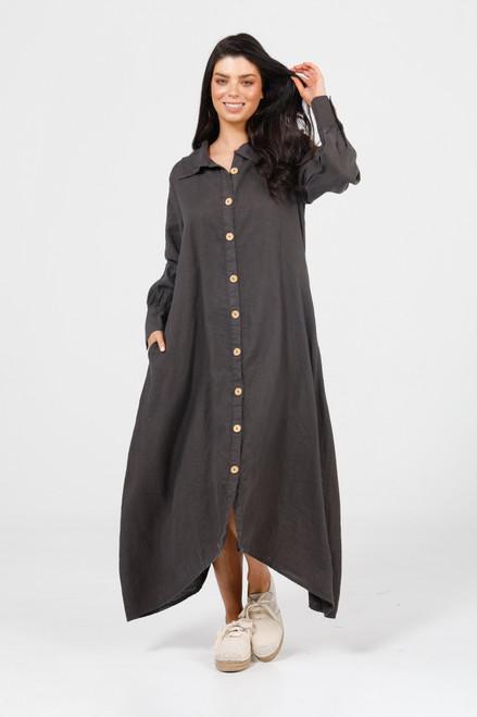 Florence Long Sleeve Dress - Espresso