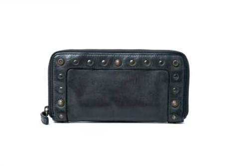 Fawn 100% Leather Wallet - Black