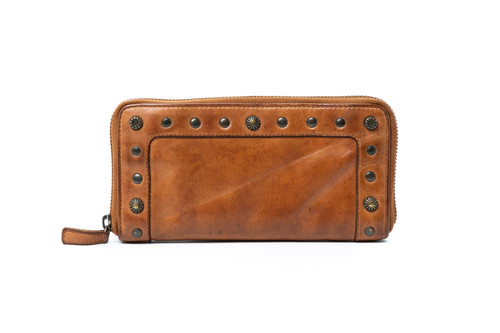 Fawn 100% Leather Wallet - Cognac