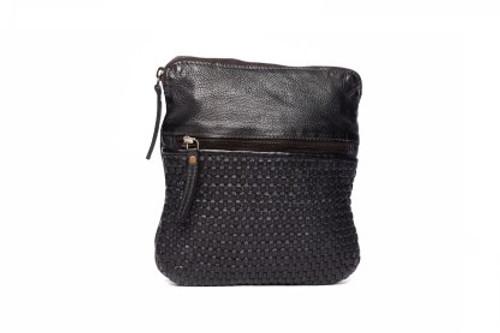 Teagan 100% Leather Shoulder Bag - Black