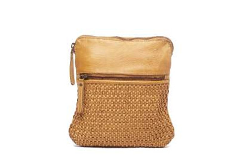 Teagan 100% Leather Shoulder Bag - Mustard