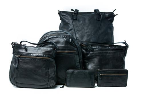 Ursula Leather Backpack - Black