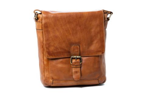Tatiana Leather Satchel Bag - Cognac