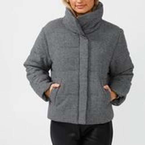 Winchester Puffer - Black Houndstooth