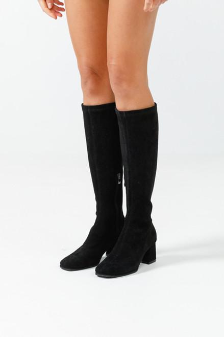 Darcy Suede Boots - Black