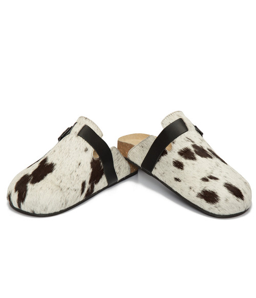 Jersey Harion Monk Slippers - Black & White