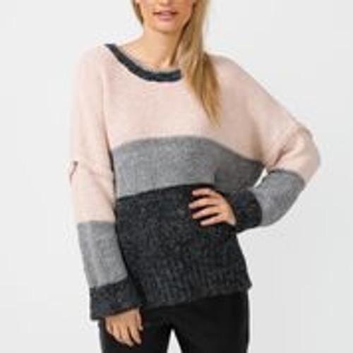 Fargo Knit -Mink + Marle Grey & Black