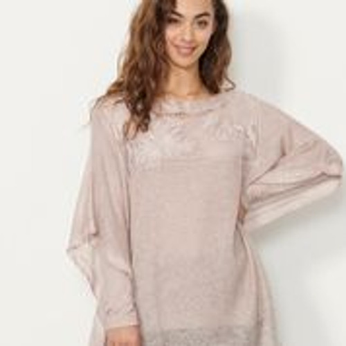 2pc Set Tunic With Sparkle Trims - Pink