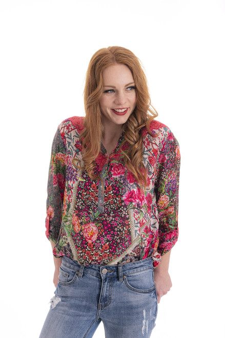 Floral Shirt - Geranium