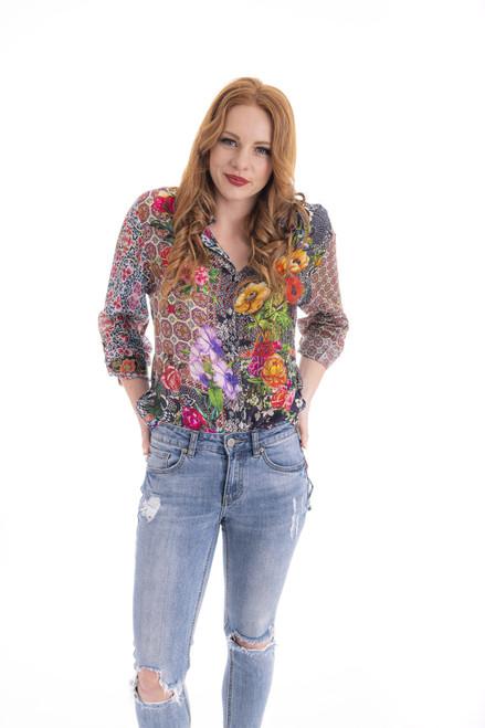 Floral Shirt - Poppy Garden