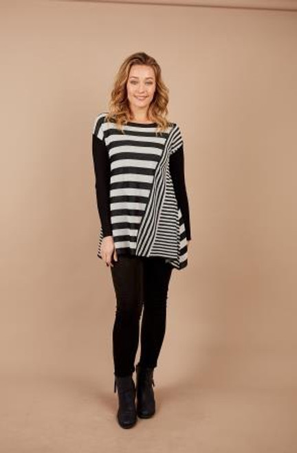 Rib Knit Stripe Tunic