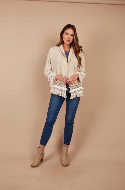 Tassel & Lace Hem Jacket