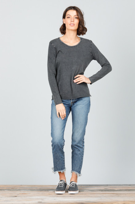 Sampson Long Sleeve Top - Black