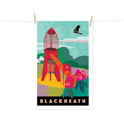 Tea Towel - Blackheath Rocket Blue Mountains