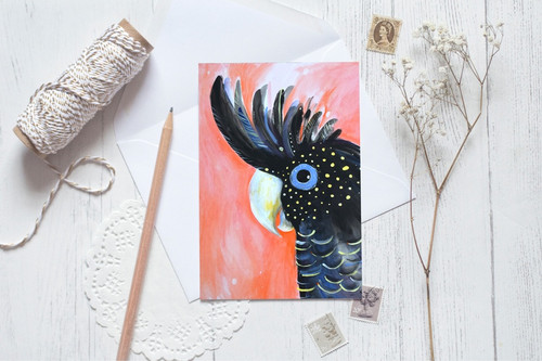 Greeting Card - Black Cockatoo