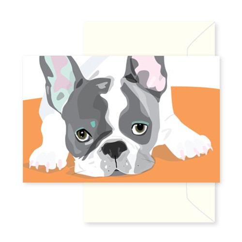 Greeting Card - French Bull Dog