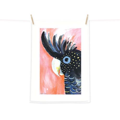 Tea Towel - Black Cockatoo