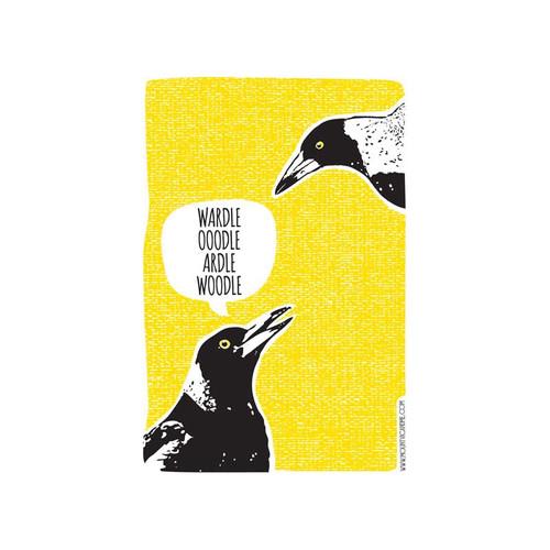 Tea Towel - Magpie Talk