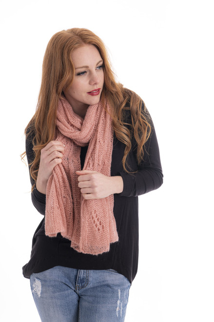 Mohair Neck Scarf - Blush