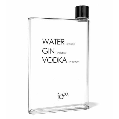Flat Water Bottle Cheeky A5