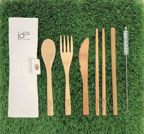 Bamboo Cutlery  Set - Natural