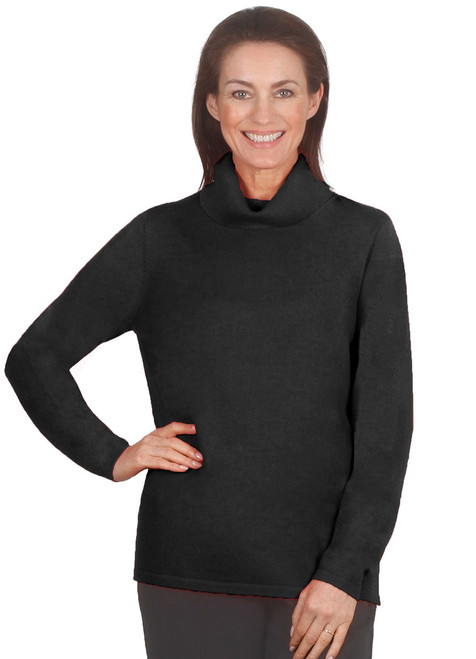 Pure Wool Roll Neck Jumper