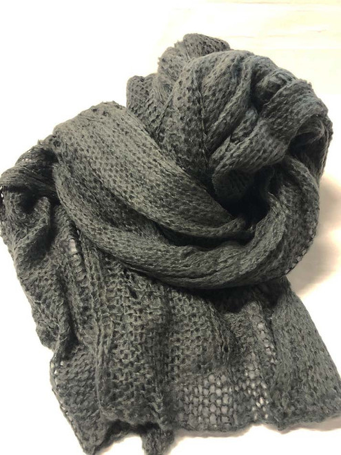Mohair Neck Scarf - Grey