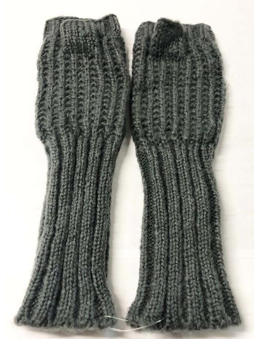 Mohair Gloves - Grey