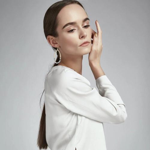 Ursula Natural Stone  Earring - Amazonite