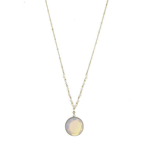 April Natural Stone Necklace - Clear