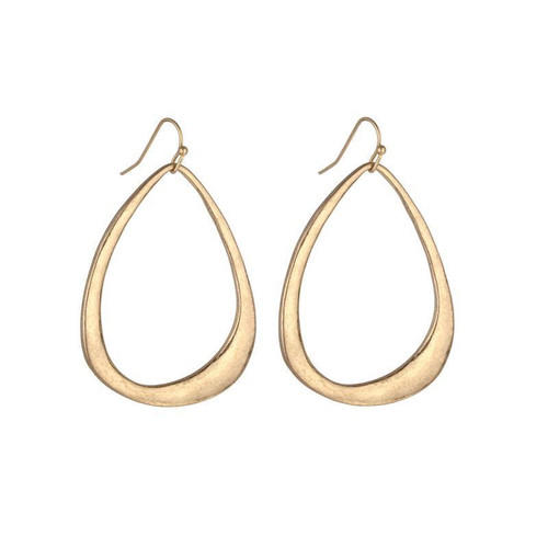 Jordan Bell Hoop Earrings - Gold