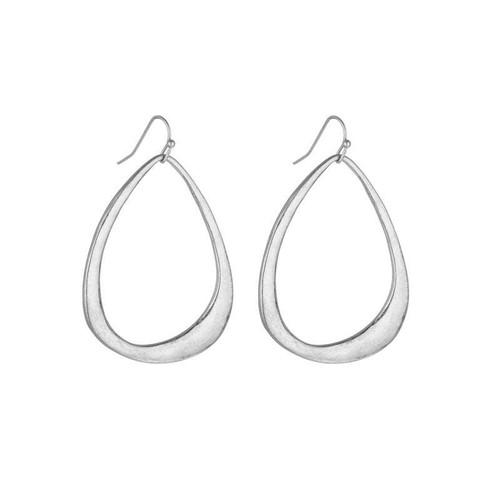 Jordan Bell Hoop Earrings - Silver