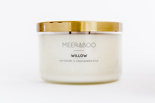 Copper Lid Willow Soy Candle - 270gms 40 Hours
