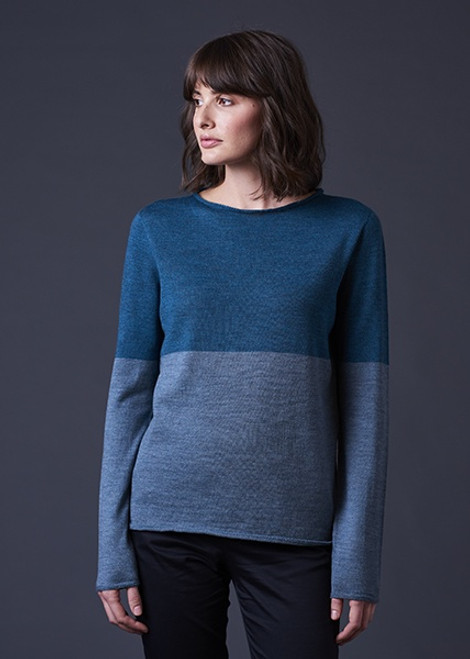 Harlow Colour Block Long Sleeve Top Merino