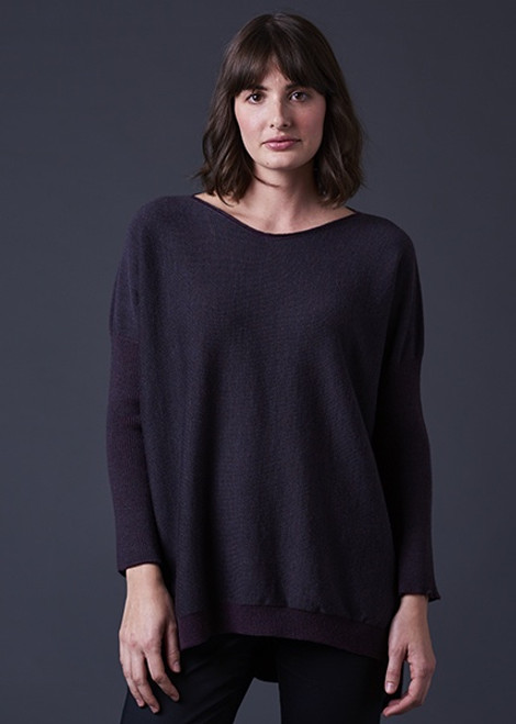Tabitha Two Tone V Neck Jumper