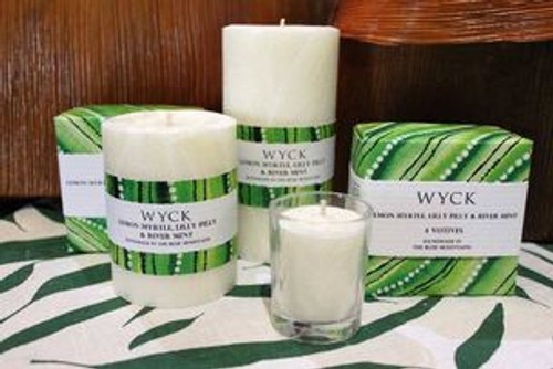Pillar Candle - Lemon Myrtle, Lilly Pilly & River Mint 50hr