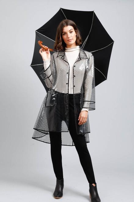 Rainy Day Rain Coat - Black Spot