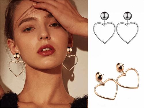 Juliet Love Heart Earrings - Gold